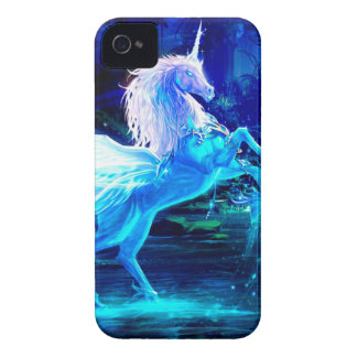 Unicorn Forest Stars Cristal Blue iPhone 4 Cover