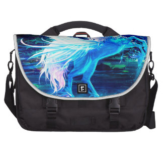 Unicorn Forest Stars Cristal Blue Commuter Bags