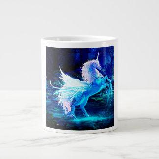 Unicorn Forest Stars Cristal Blue Large Coffee Mug