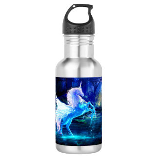 Unicorn Forest Stars Cristal Blue Stainless Steel Water Bottle