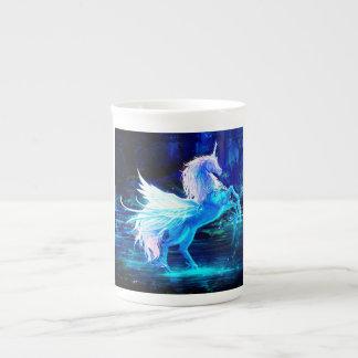 Unicorn Forest Stars Cristal Blue Tea Cup