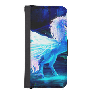 Unicorn Forest Stars Cristal Blue Wallet Phone Case For iPhone SE/5/5s