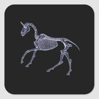 Unicorn Fossil Square Sticker