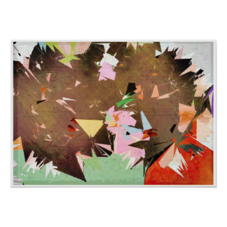 Unicorn Frenzy Abstract Surrealism Poster