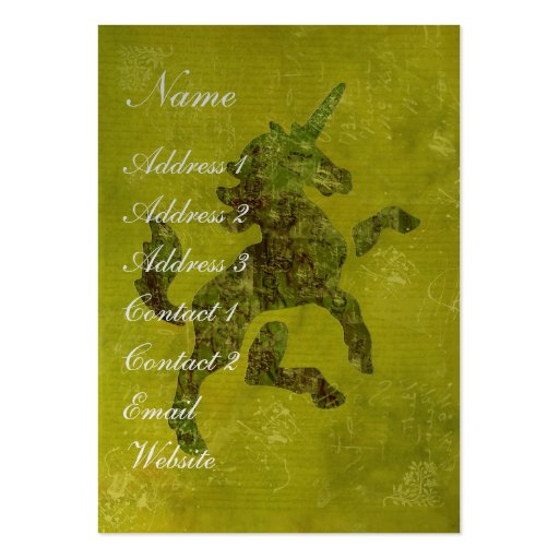 Unicorn Fresco Business Card Template