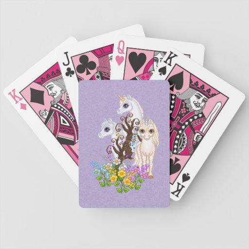 Unicorn Friends Pixel Art Playing Cards
