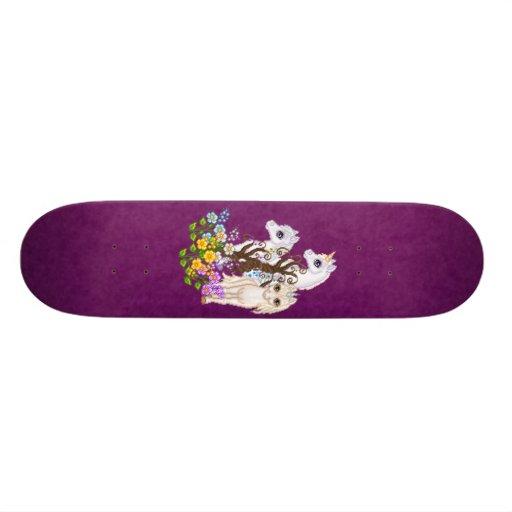 Unicorn Friends Pixel Art Skateboard Deck