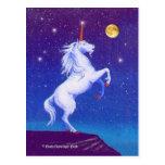 Unicorn Full Moon Postcards