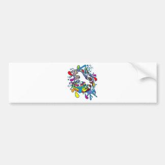 Unicorn_Gallop Bumper Sticker