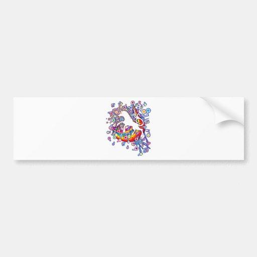 Unicorn_Gallop Bumper Stickers