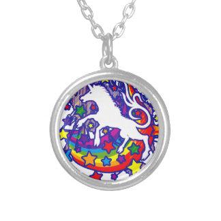 Unicorn_Gallop Silver Plated Necklace