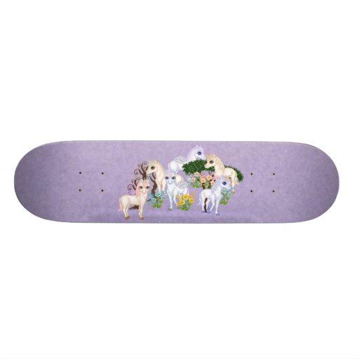 Unicorn Garden Pixel Art Skate Board