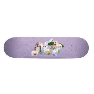 Unicorn Garden Pixel Art Skateboard Deck