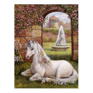 Unicorn Garden Postcard