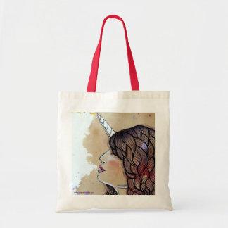Unicorn Girl Canvas Bags