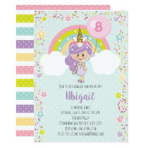 Unicorn Girl Birthday Invitations Any Age