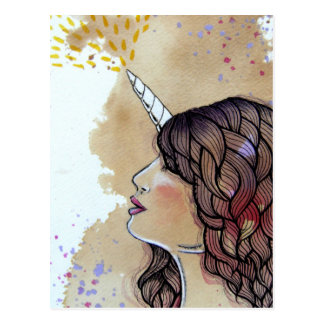 Unicorn Girl Postcard