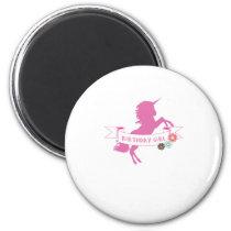 Unicorn Girls Birthday Unicorn Lovers Magnet