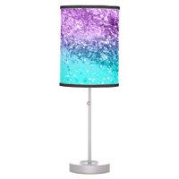 Unicorn Girls Glitter #14 #shiny #decor #art Table Lamp