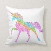 Unicorn Glitter Pillow