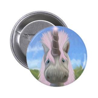 Unicorn glow pinback button