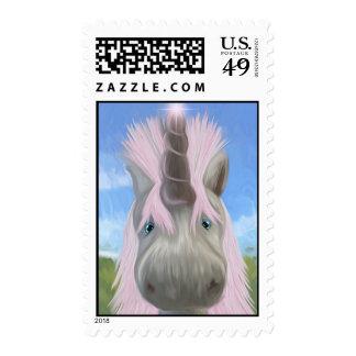 Unicorn Glow Postage Stamp