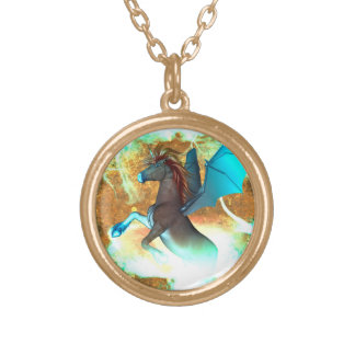 Unicorn Gold Plated Necklace