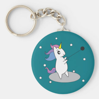 Unicorn Hammer Throw Track and Field Keychain