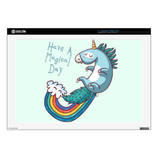 Unicorn have a magical day decal for laptop
