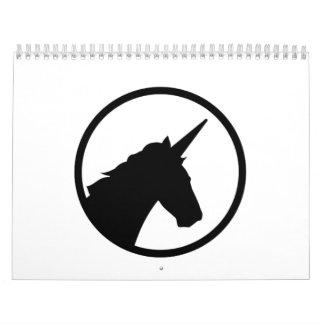Unicorn head calendar