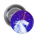 Unicorn head pinback buttons