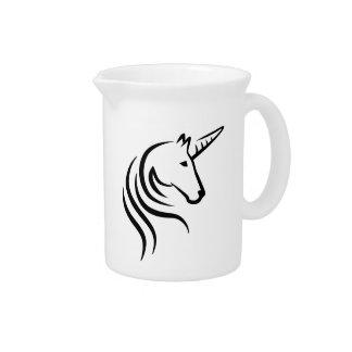 Unicorn head pitchers