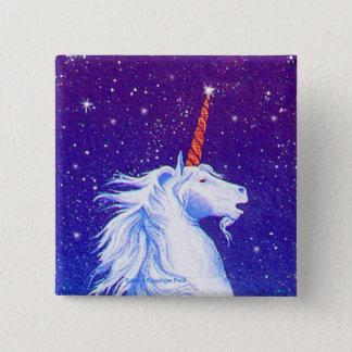 Unicorn Head Stars Pinback Button