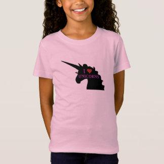 Unicorn Head with 'I Heart Unicorns' T-Shirt