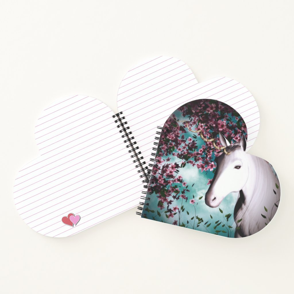 unicorn heart notebook