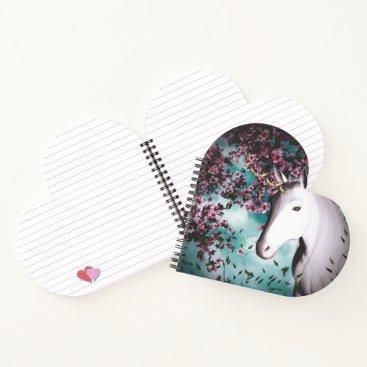 Valentines Themed unicorn heart notebook