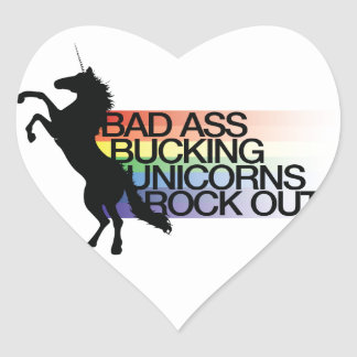 Unicorn Heart Sticker