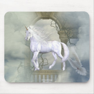 Unicorn Heaven White Beauty 2 Mouse Pad