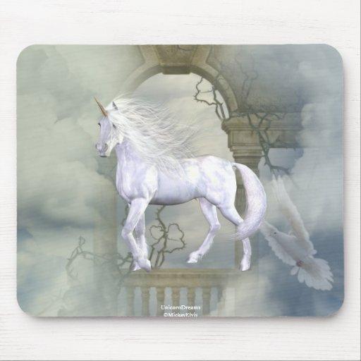 Unicorn Heaven White Beauty 2 Mouse Mats