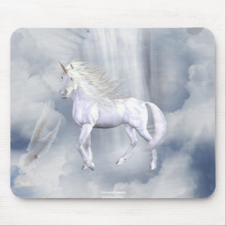 Unicorn Heaven White Beauty 3 Mouse Pad