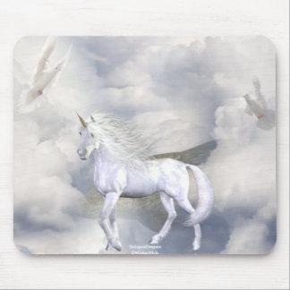 Unicorn Heaven White Beauty 5 Mouse Pad
