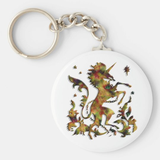 Unicorn Herald: Old Gold Keychain