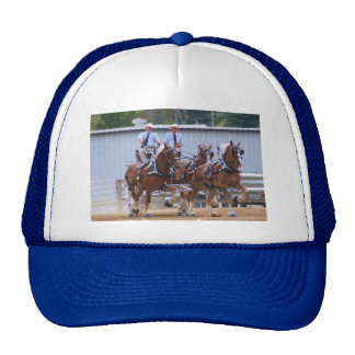 Unicorn hitch of Belgian Draft Horses Trucker Hat