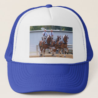 Unicorn hitch of Belgian Draft Horses Trucker Hat