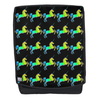 Unicorn Horn Horse Bright Ombre Rainbow Prismatic Backpack