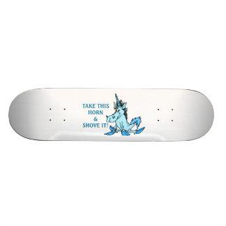 Unicorn Horn Shove It Skateboard Deck