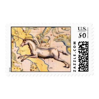 Unicorn Horse Astronomy Map Mythology Fantasy Postage