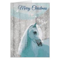 Unicorn Horse Christmas Greeting Card