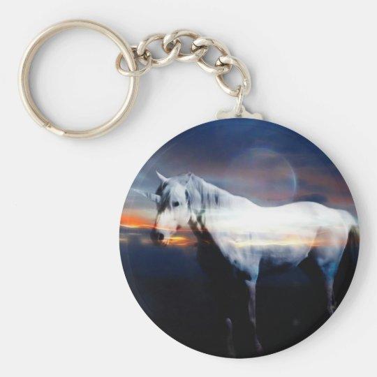 Unicorn horse keychain