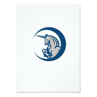 Unicorn Horse Prancing Side 4.5x6.25 Paper Invitation Card